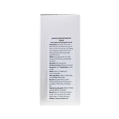 Serum chống lão hoá dưỡng trắng da Sakura Super Restorative