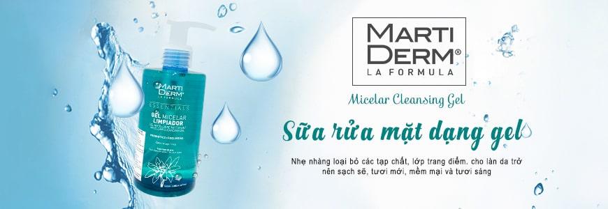 Gel rửa mặt MartiDerm Micellar Limpiador Cleansing 1