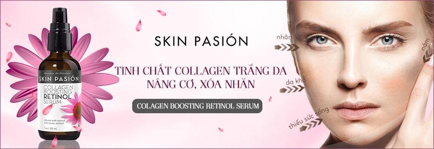 Tinh chất Collagen trắng da, nâng cơ, xóa nhăn Skin Pasión Retinol Serum 1