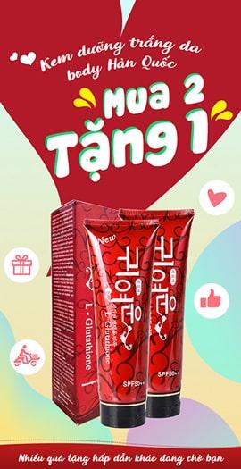 Khuyến Mãi Mua 2 Tặng 1 Kem dưỡng trắng da body Hàn Quốc