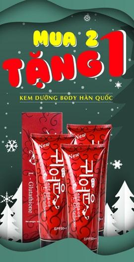 Mua 2 Tặng 1 Kem dưỡng trắng da body Hàn Quốc