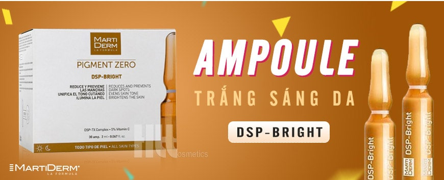 Ampoule trắng sáng da MartiDerm DSP – Bright