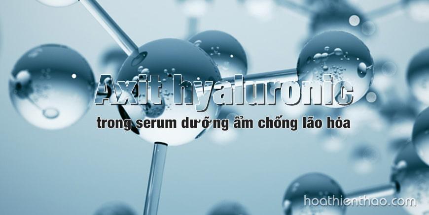 Axit Hyaluronic trong serum dưỡng ẩm chống lão hóa