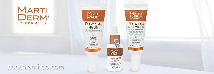 Bộ sản phẩm trị đốm nâu trên da mặt MartiDerm