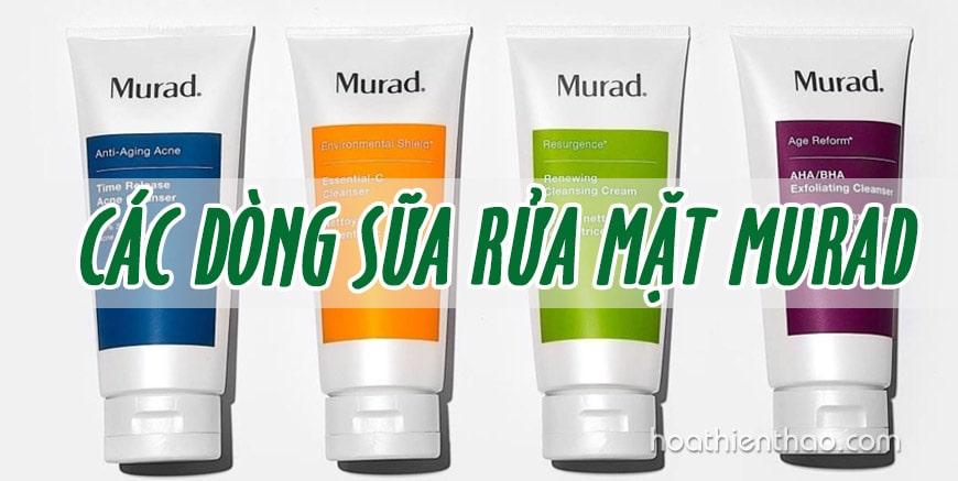 Các dòng sữa rửa mặt Murad