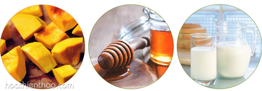 Cách làm trắng da từ bí ngô, mật ong và sữa