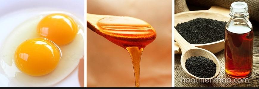 Chữa rụng tóc sau sinh với trứng gà, dầu mè và mật ong