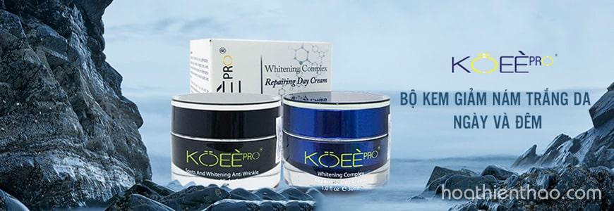 Điểm danh 4 dòng kem trị nám thần thánh tốt nhất hiện nay - Bộ kem trị nám ngày và đêm Koee Pro