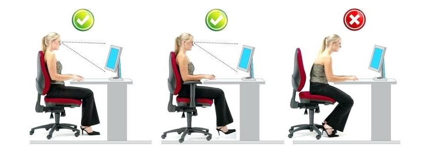 Giữ khoảng cách an toàn với màn hình máy tính