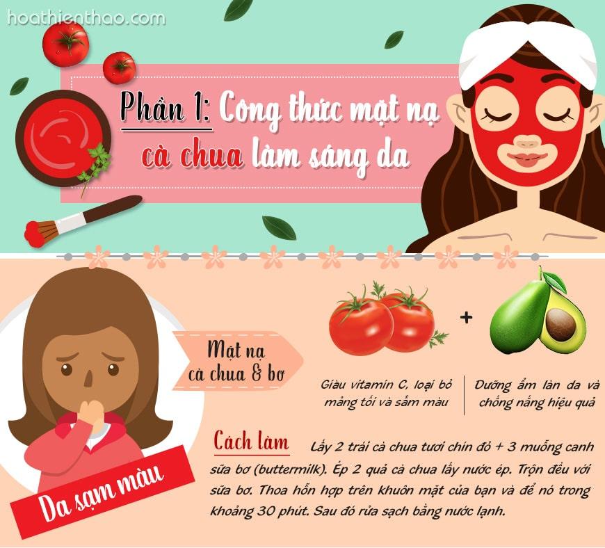 1. [Infographic] Công thức mặt nạ cà chua làm sáng da mặt (Phần 1)