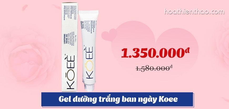 Kem dưỡng trắng da dạng Gel Koee Lightening Facial ban ngày