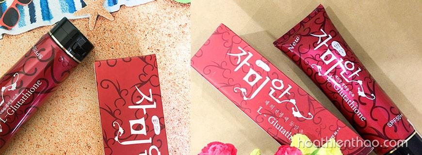 Kem dưỡng trắng da toàn thân Hàn Quốc L-Glutathione SPF50++