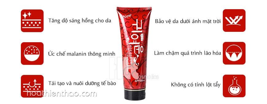 Kem dưỡng trắng da toàn thân Hàn Quốc L-Glutathione SPF 50++
