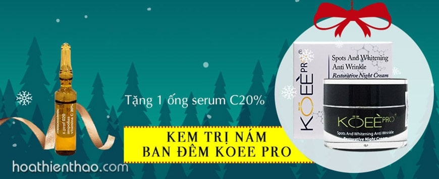 Kem trắng da ngừa nám Koee Pro ban đêm