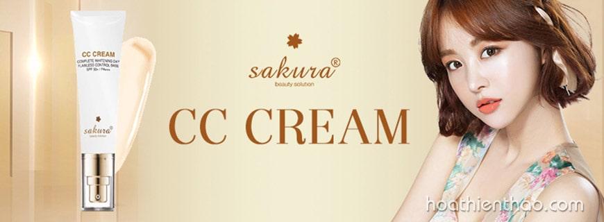Kem trang điểm dưỡng da Sakura CC Cream
