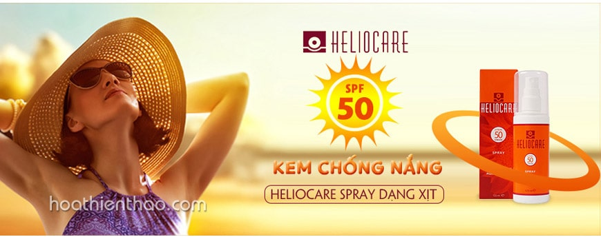 Kem xịt chống nắng Heliocare Spray SPF50