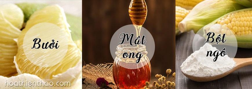 Làm trắng da mặt từ bưởi, mật ong và bột ngô