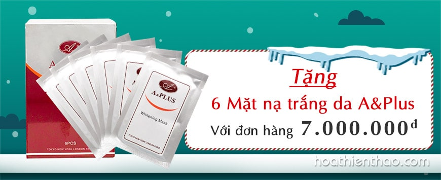 Mặt nạ dưỡng trắng Collagen A&Plus Whitening Mask A009
