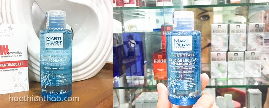 Nước tẩy trang MartiDerm Micellar 3 in 1 Cleansing Solution