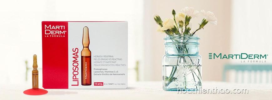 Serum dưỡng ẩm cho da dầu MartiDerm Liposomas Ampoules