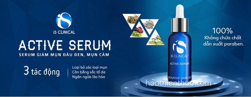 Serum giảm mụn cám mụn đầu đen iS Clinical Active