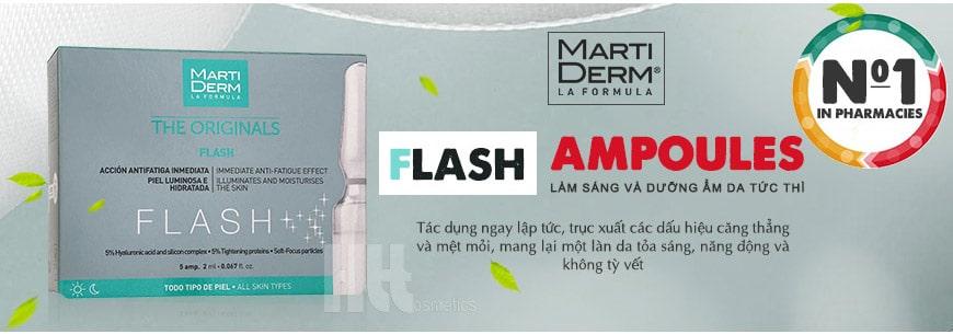 Serum làm sáng da dưỡng ẩm tức thì MartiDerm Flash