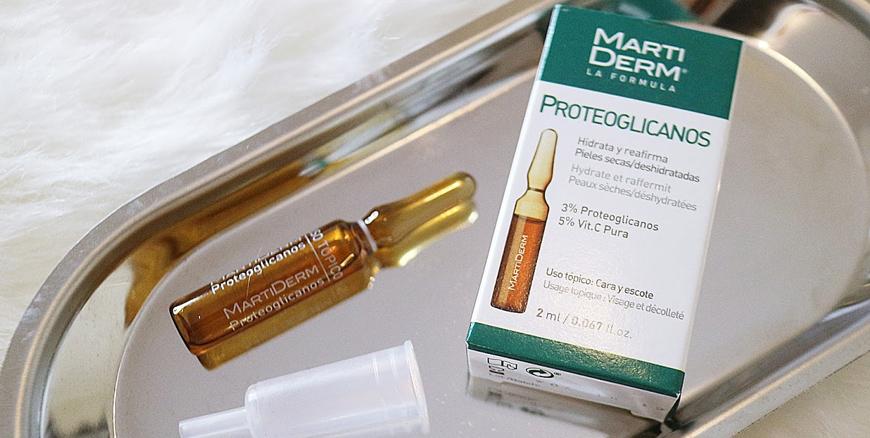 Serum MartiDerm với thành phần chính là vitamin C nguyên chất và Proteoglycans