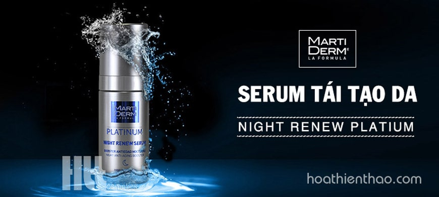 Serum tái tạo da ban đêm MartiDerm Night Renew Platium