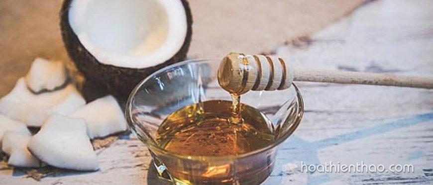 tẩy tế bào chết da mặt bằng dầu dừa và mật ong