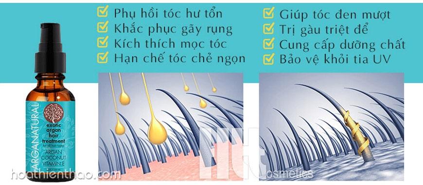 Thành phần tinh dầu dưỡng tóc Arganatural Exotic Argan Hair Treatment