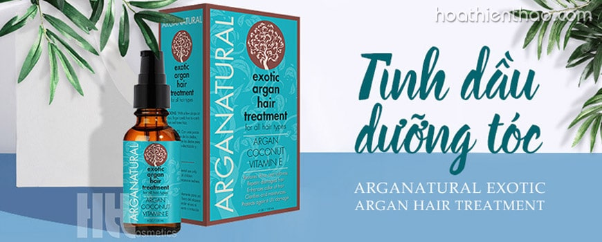 Tinh chất dạng tinh dầu phục hồi tóc hư tổn Arganatural Exotic Argan Hair Treatment