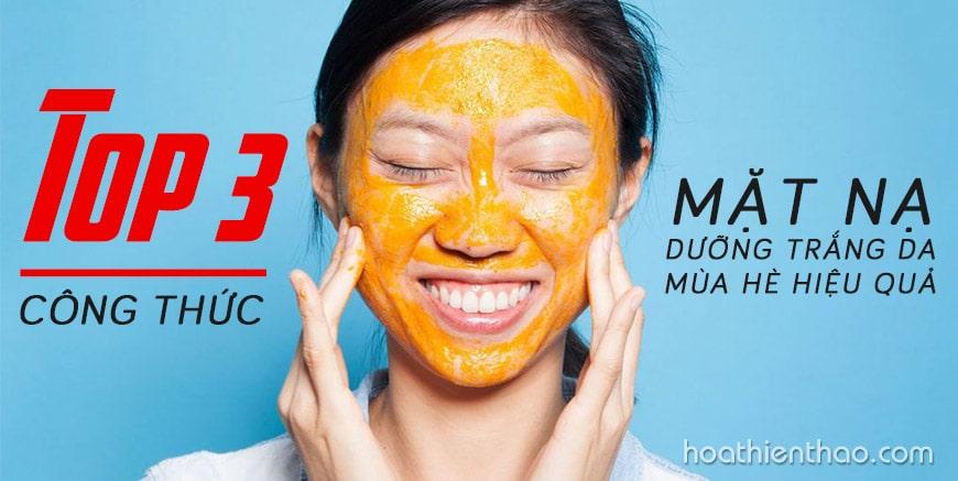 Top 3 công thức mặt nạ dưỡng trắng da mùa hè hiệu quả
