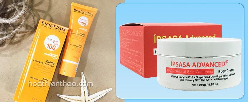 Kem dưỡng trắng da toàn thân Ipsasa Advanced SPF 45 PA++