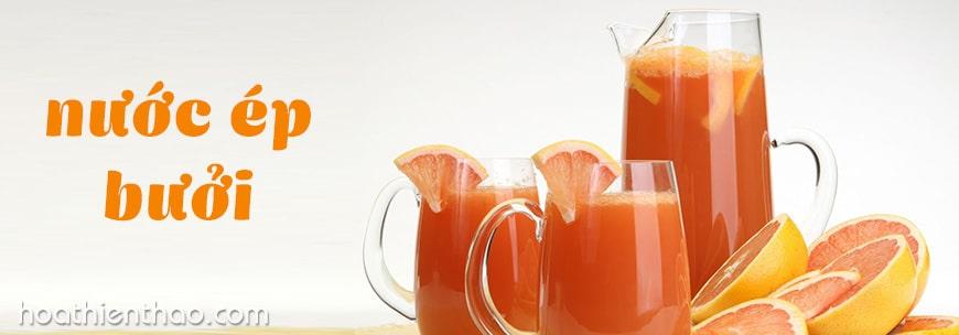 uống nước ép bưởi giúp giảm mỡ bụng dưới