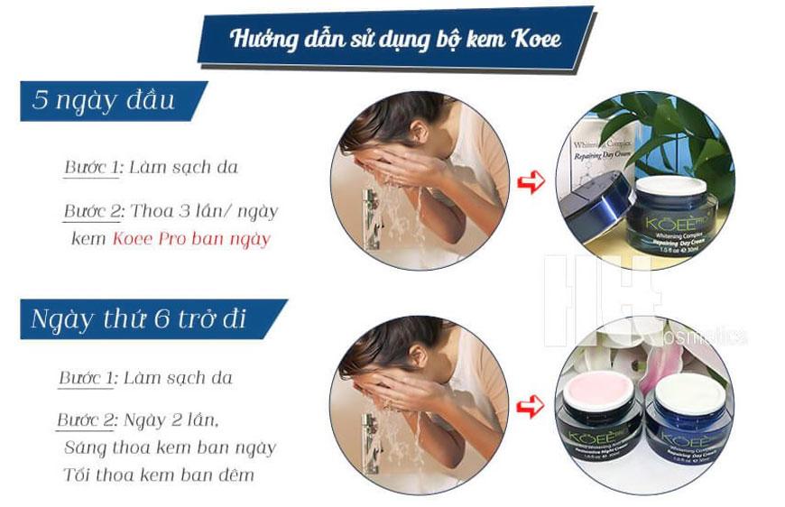 Đơn giản dễ sử dụng Bộ kem Koee Pro