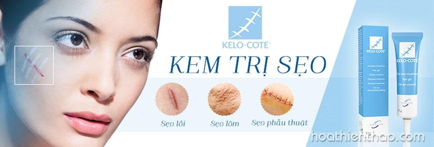 Kelo Cote điều trị hiệu quả các loại sẹo lồi và lõm