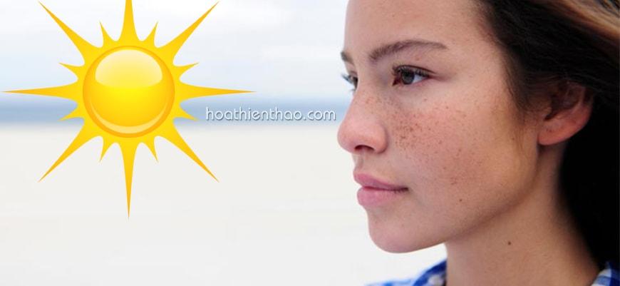 Nám da do ánh nắng mặt trời tác động