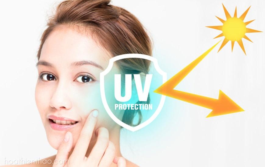 Ngăn chặn tia UV tác động lên da
