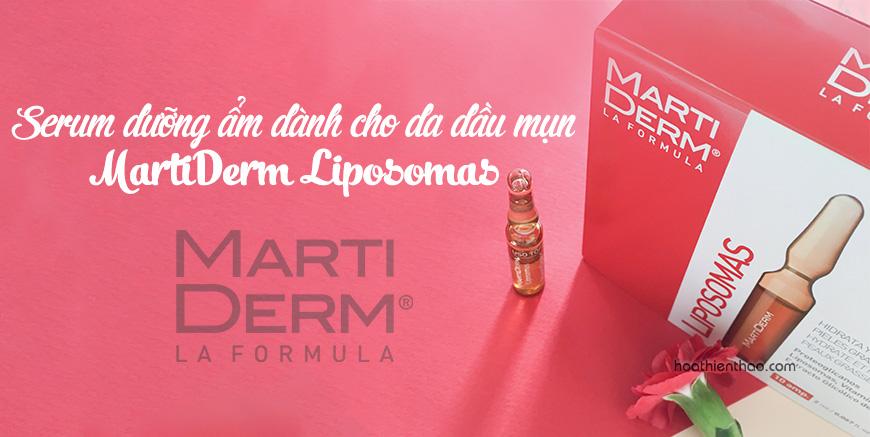 Serum dưỡng ẩm cho da dầu mụn MartiDerm Liposomas