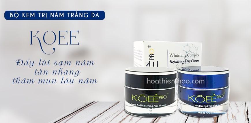 TOP #1: Bộ kem trắng da trị nám Koee Pro ngày và đêm