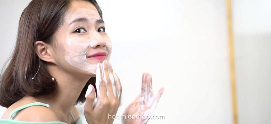Vệ sinh da mặt dầu đúng cách