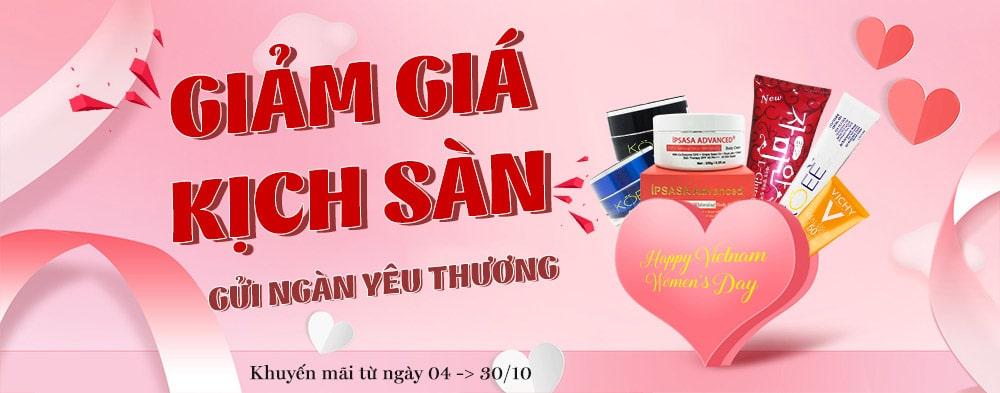 Khuyến Mãi Tháng 10/2018 - Chào mừng ngày Phụ Nữ Việt Nam
