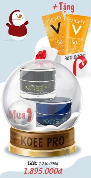 Khuyến mãi khi mua bộ kem trị nám Koee Pro - Giáng Sinh 2019