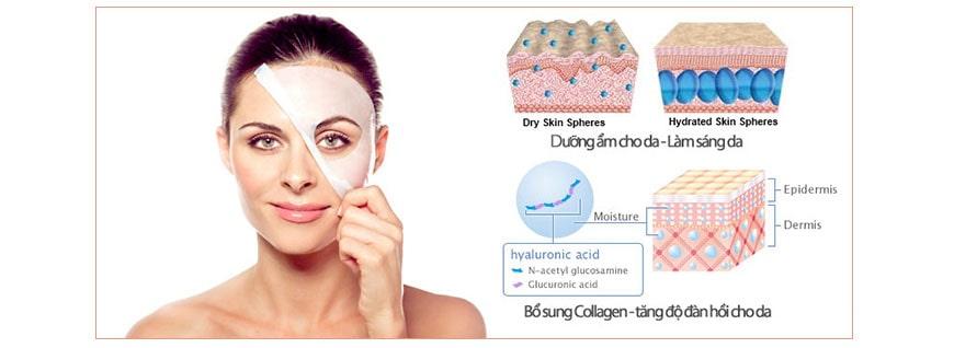Hiệu quả Collagen A&Plus Whitening Mask A009