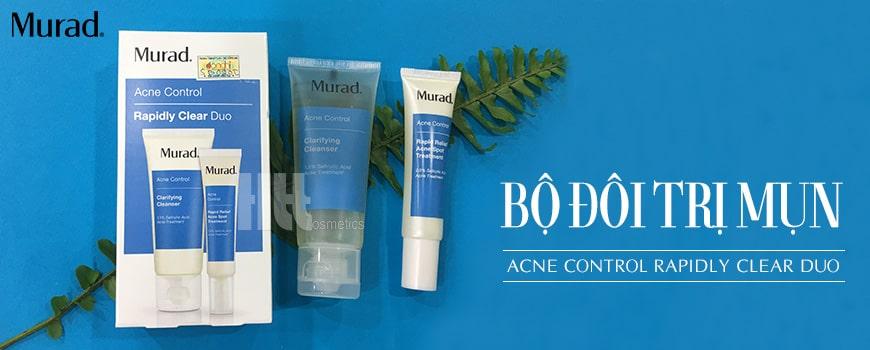 Bộ đôi trị mụn Murad Acne Control Rapidly Clear Duo