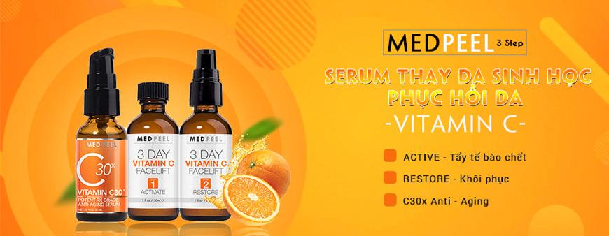 Bộ 3 Serum thay da sinh học Medpeel Vitamin C 3-Day Facelift