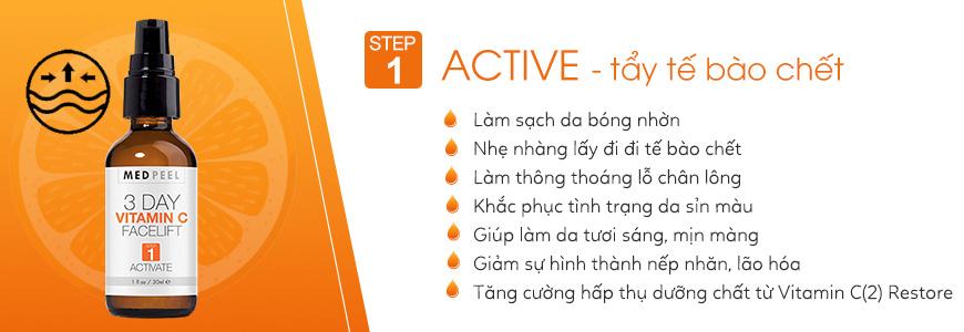 Serum tẩy tế bào chết vitamin C Facelift (1) Active - 30ml