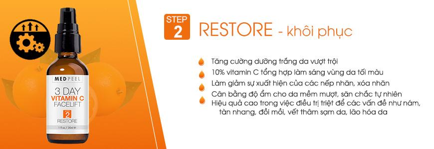 Serum hỗ trợ tái tạo da vitamin C Facelift (2) Restore - 30ml