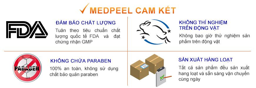 Cam kết chất lượng và tính an toàn từ thương hiệu MedPeel