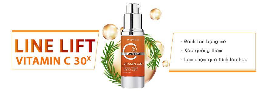 Bộ serum giảm quầng thâm, xóa nhăn da vùng mắt Medpeel Vitamin C 30x 4